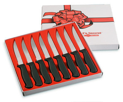 Chefs Secret 8 Piece Steak Knife Set Surgical Stainless Steel CTCS8 - House Home & Office - Fits My Budget