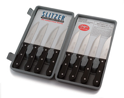 Slitzer CTSZ8 Jumbo Steak Knives Professional German Style 8 Piece Set