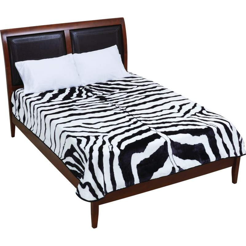 Wyndham House GFBLK93272 Zebra Print Blanket Free Shipping - Blankets & Bedding - Fits My Budget