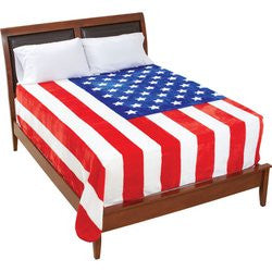United States American Flag Print Fleece Blanket GFBLKUSA Free Shipping - Blankets & Bedding - Fits My Budget