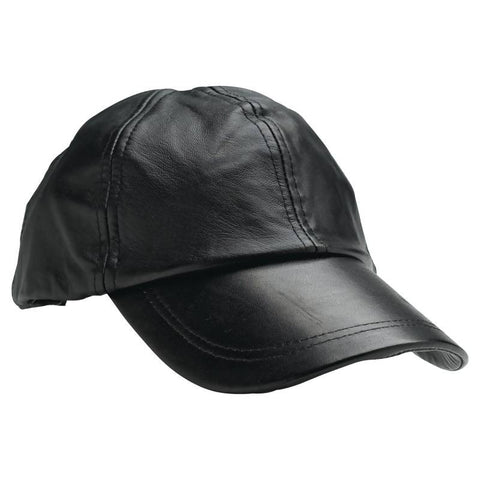Navarre Solid Genuine Leather All American Baseball Cap GFCAP2 - Apparel & Accessories - Fits My Budget