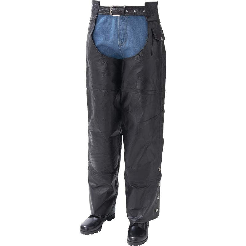 Giovanni Navarre GFCHAP Italian Stone Buffalo Leather Motorcycle Chaps Free Shipping