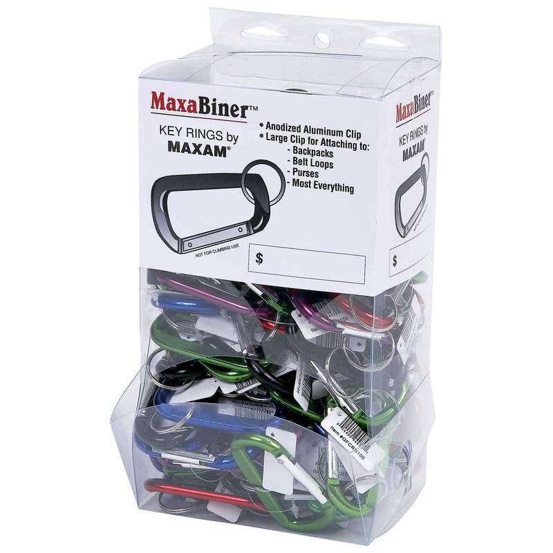 Maxabiner Keychain Key Rings in 100 Count Display Box GFCRB100 - Safety & Security - Fits My Budget