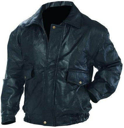 Men's or Women's Napoline Genuine Leather Classic Bomber Jacket GFEUCT