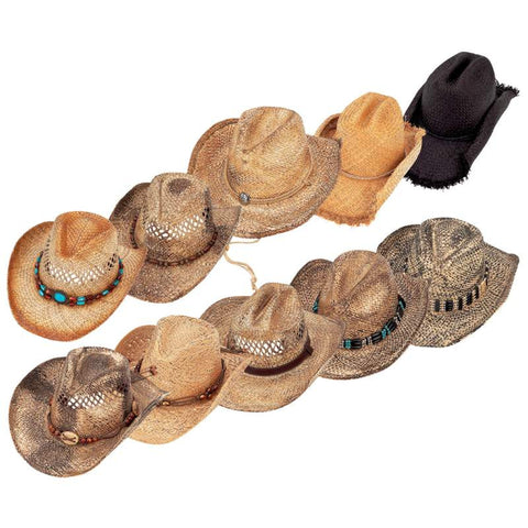 Casual Outfitters GFHATA10 Piece Cowboy Hat Set with Self-Adjusting Liners FREE SHIPPING - Apparel & Accessories - Fits My Budget