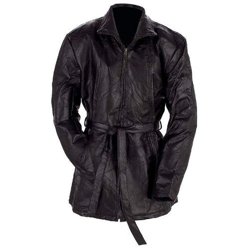 Navarre GFLZPB Ladies 3/4 Length Lined Genuine Leather Jacket Free Shipping - Apparel & Accessories - Fits My Budget
