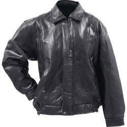Giovanni Navarre GFMBJ Leather Bomber Jacket Italian Stone Design - Apparel & Accessories - Fits My Budget