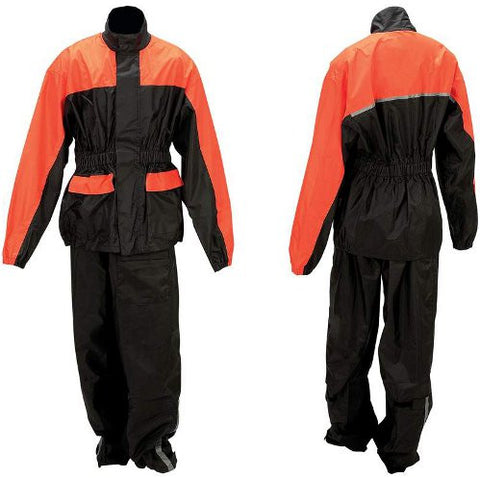 Diamond Plate Motorcycle Rain Jacket and Pants Suit GFRSPK - Apparel & Accessories - Fits My Budget