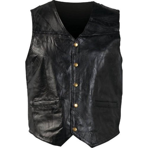 Giovanni Navarre GFV Italian Stone Design Genuine Leather Vest