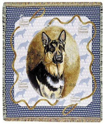 German Shepherd Tapestry Throw Blanket TPM459