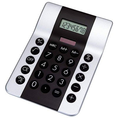 Mitaki-Japan HHCALRS2 Black and Silver Dual Powered Calculator