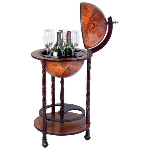 Kassel HHGLB32 Wine Globe Bar on Stand Fee Shipping - House Home & Office - Fits My Budget