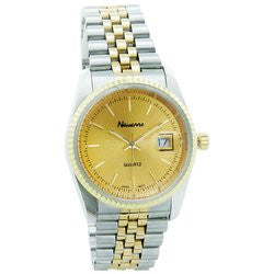 Alex Navarre JEMROLP Mens Stainless Steel Two-Tone Quartz Watch Free Shipping - Jewelry - Fits My Budget
