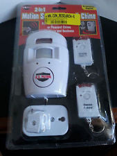 U S Patrol MOTION SENSOR ALARM CHIME with 2 remote controls