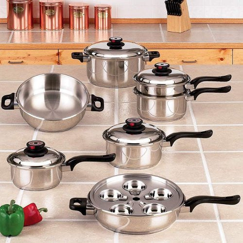 Worlds Finest KT17ULTRA Waterless Cookware 17 Piece Stainless Steel Free Shipping - House Home & Office - Fits My Budget