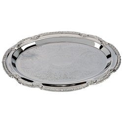 Sterlingcraft Hors D'oeuvres Oval No Polish Serving Tray KT404S