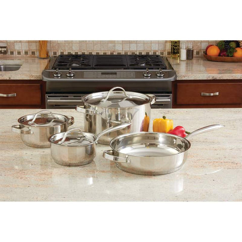 Ever Clad 7 piece Heavy Duty Stainless Steel Cookware Set  KT7 -  - Fits My Budget
