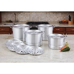 LaCuisine KTAL12 Aluminum Steamer Stockpot 12 Piece Set Free Shipping - House Home & Office - Fits My Budget