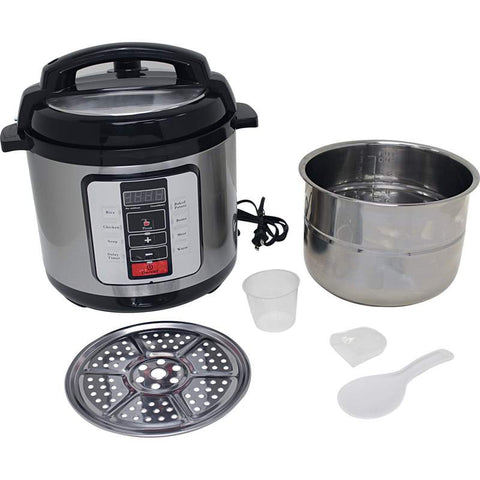 Precise Heat KTELPCS Electric Pressure Cooker 6.3 quart Stainless Steel Liner Free Shipping - House Home & Office - Fits My Budget