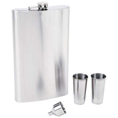 "Maxam KTFLSKGS ""Giant Shot"" Stainless Steel Flask Set Free Shipping - House Home & Office - Fits My Budget"