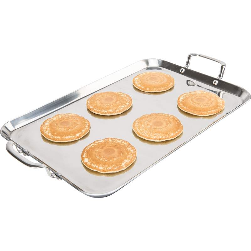 Precise Heat™ by Maxam® T304 5-Ply Stainless Steel Double Griddle Free Shipping -  - Fits My Budget