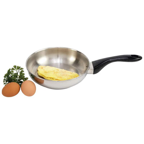 "Precise Heat 8"" 9 Element Stainless Steel Omelet Pan KTOP5 - House Home & Office - Fits My Budget"