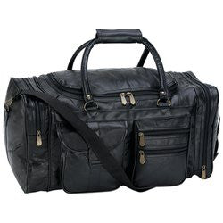 "Embassy LULPB21 Hand-Sewn Pebble Grain Genuine Leather 21"" Tote Bag - Luggage & More - Fits My Budget"
