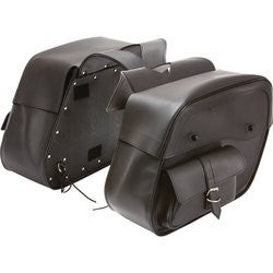 Diamond Plate LUMSADP 2 piece Slanted Motorcycle Saddlebag Set Free Shipping - Luggage & More - Fits My Budget
