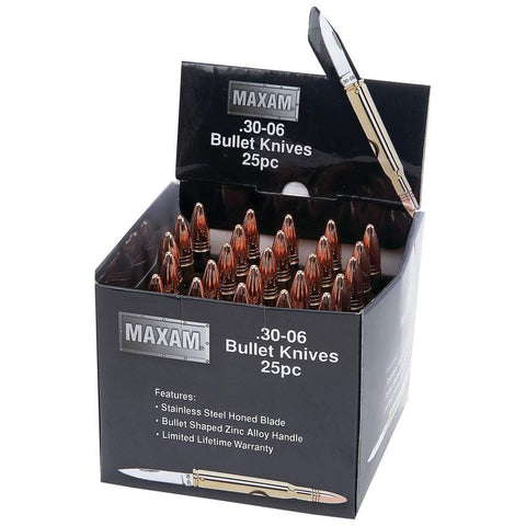 Maxam 25 Piece Bullet Shaped Knives in Countertop Display SKBULLET