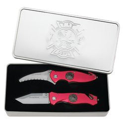 Maxam 2 piece Fire and Rescue Liner Lock Knives with Fire Emblem SKFIRE2 - Sports & Games - Fits My Budget