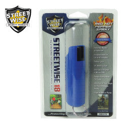 Streetwise 18 Pepper Spray 1/2 oz Hard Case Blue SW3HBL18 - Safety & Security - Fits My Budget