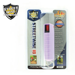 Streetwise 18 Pepper Spray 1/2 oz Hard Case Lavender SW3HLV18 - Safety & Security - Fits My Budget