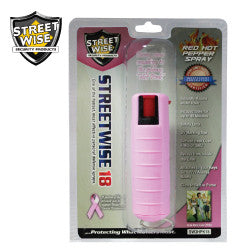 Streetwise 18 Pepper Spray 1/2 oz Hard Case Pink SW3HPK18 - Safety & Security - Fits My Budget