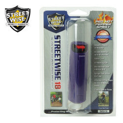 Streetwise 18 Pepper Spray 1/2 oz Hard Case Purple SW3HPR18 - Safety & Security - Fits My Budget