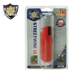 Streetwise 18 Pepper Spray 1/2 oz Hard Case Red SW3HRD18 - Safety & Security - Fits My Budget