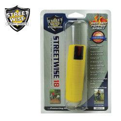 Streetwise 18 Pepper Spray 1/2 oz Hard Case Yellow SW3HYL18 - Safety & Security - Fits My Budget