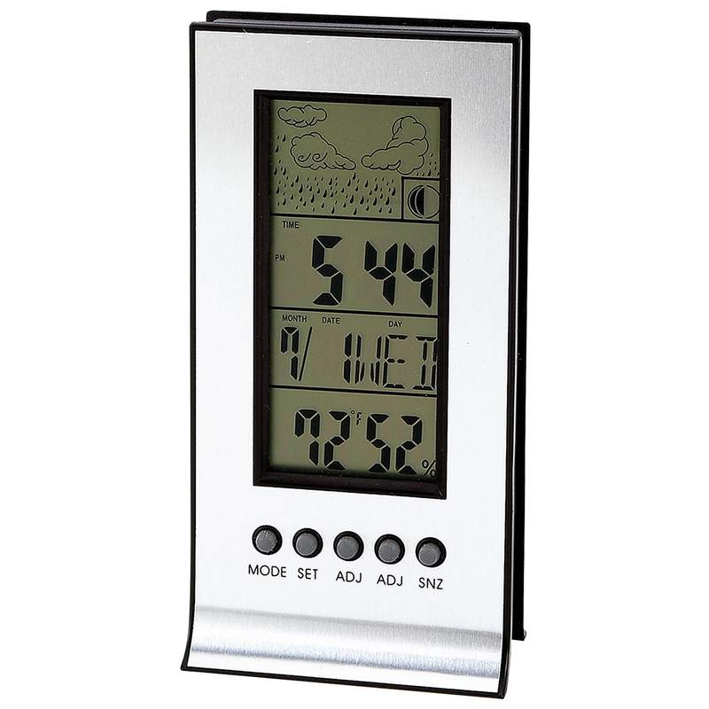 Desktop Weather Station Temperature Humidity Alarm Calendar Promotional Item