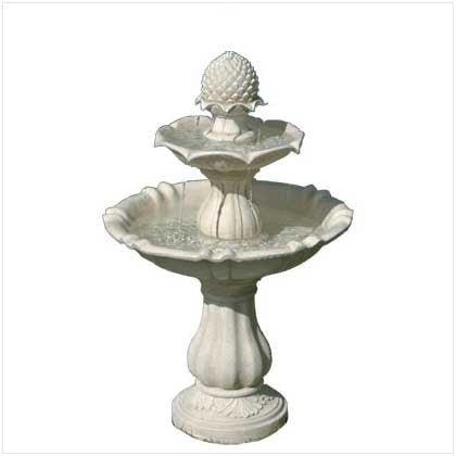Acorn Outdoor Garden Water Fountain Ivory Alabastrite Birdbath Free Shipping - House Home & Office - Fits My Budget