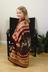 Biederlack Cuddlewrap Robe Blanket Alison Brown 45x40 B1836 Free Shipping - Blankets & Bedding - Fits My Budget