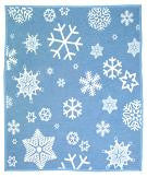 Biederlack Cuddlewrap Robe Blanket Snowflakes Blue 45x40 B2332 Free Shipping - Blankets & Bedding - Fits My Budget