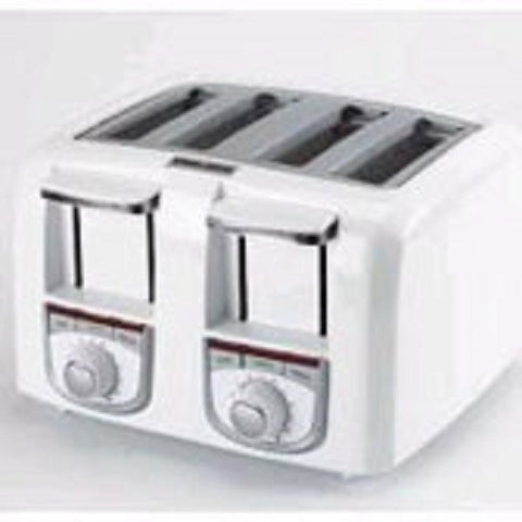 Black & Decker T4500 4 Slice Dual Control Toaster Free Shipping - House Home & Office - Fits My Budget