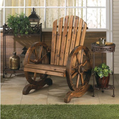 Wagon Wheel Adirondack Garden Chair 10015792 Free Shipping - House Home & Office - Fits My Budget