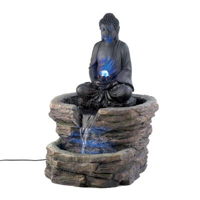 Zen Buddha Garden Water Fountain 10001156 - House Home & Office - Fits My Budget