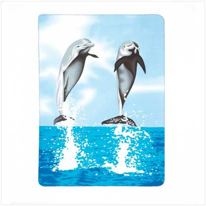 Dancing Dolphins Fleece Blanket Throw 60x50 37248 Free Shipping - Blankets & Bedding - Fits My Budget
