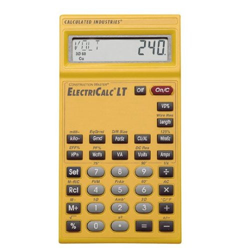 Calculated Industries 5025 ElectriCalc LT Electrical Calculator Free Shipping - Electronics - Fits My Budget