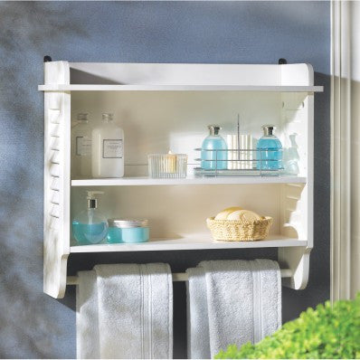 Nantucket Bathroom Wall Shelf 10014706 Free Shipping - House Home & Office - Fits My Budget