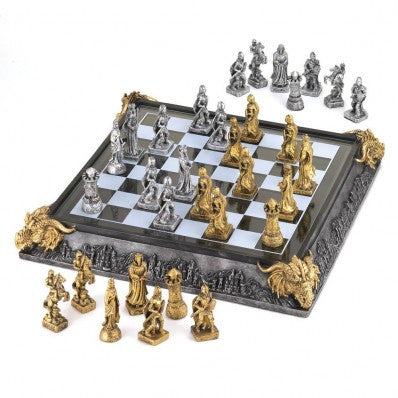 Medieval Knights and Dragons Chess Set  10035301 - Sports & Games - Fits My Budget