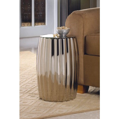 Glamorous Decorative Silver Stool 10015686 Free Shipping - House Home & Office - Fits My Budget