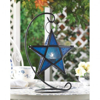 Sapphire Star Table Lantern 10001138 Free Shipping - House Home & Office - Fits My Budget