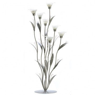Silver Calla Lilly Candleholder 10012794 Free Shipping - House Home & Office - Fits My Budget